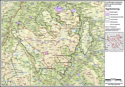 kart forollhogna Rennebu utmarksråd kart forollhogna